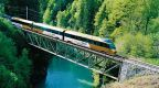 The Golden Pass scenic train from Montreux via Gstaad, the Simmental Valley and Interlaken to Lucerne
